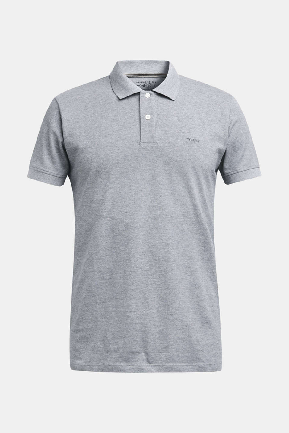 Piqué polo shirt in 100% cotton, MEDIUM GREY, detail image number 6
