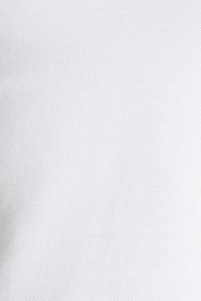 Piqué polo shirt in 100% cotton, WHITE, detail image number 5