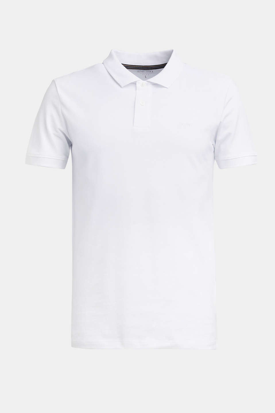 Piqué polo shirt in 100% cotton, WHITE, detail image number 7