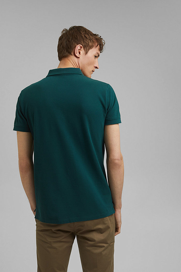 Piqué polo shirt in 100% cotton, DARK GREEN, detail image number 3