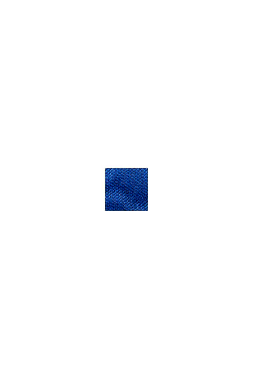 Piqué-poloshirt af 100 % bomuld, BRIGHT BLUE, swatch