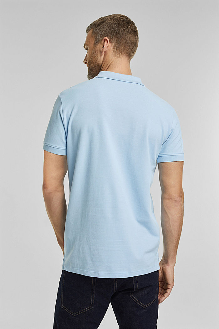 Piqué poloshirt van 100% katoen, LIGHT BLUE, detail image number 3