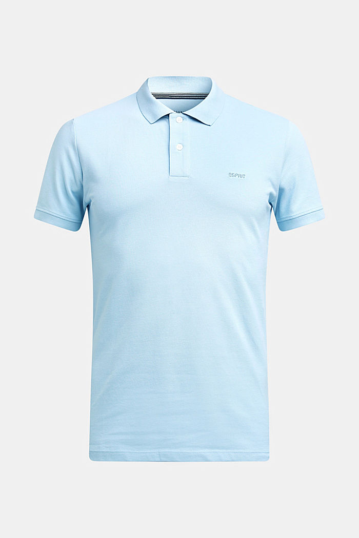 Piqué poloshirt van 100% katoen, LIGHT BLUE, detail image number 4