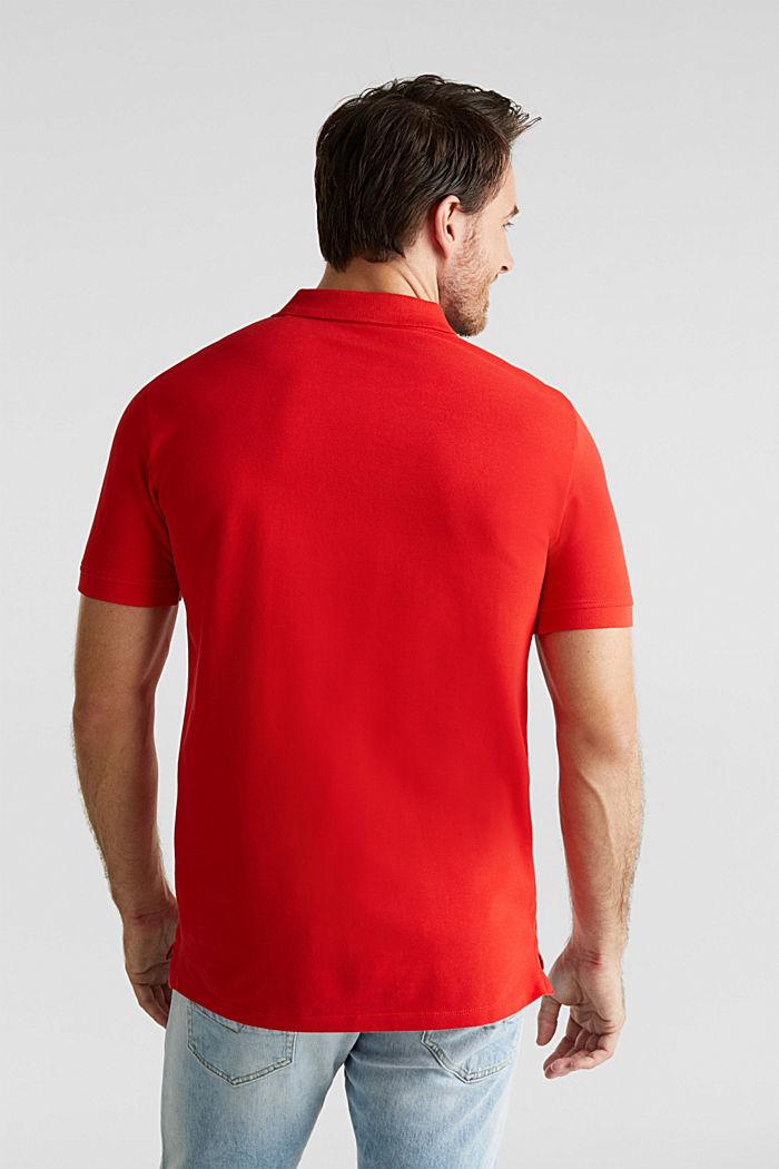 Piqué-Poloshirt aus 100% Baumwolle, RED, detail image number 3