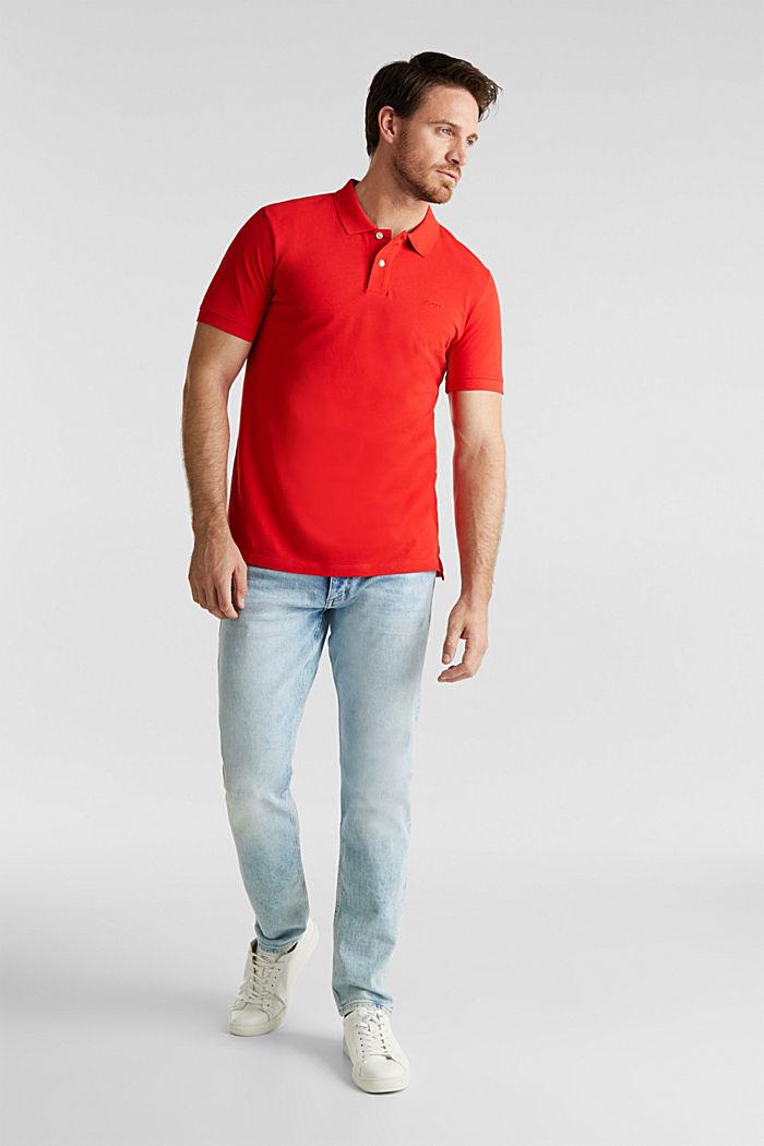Piqué-Poloshirt aus 100% Baumwolle, RED, detail image number 2