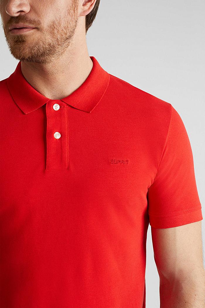 Piqué-Poloshirt aus 100% Baumwolle, RED, detail image number 1