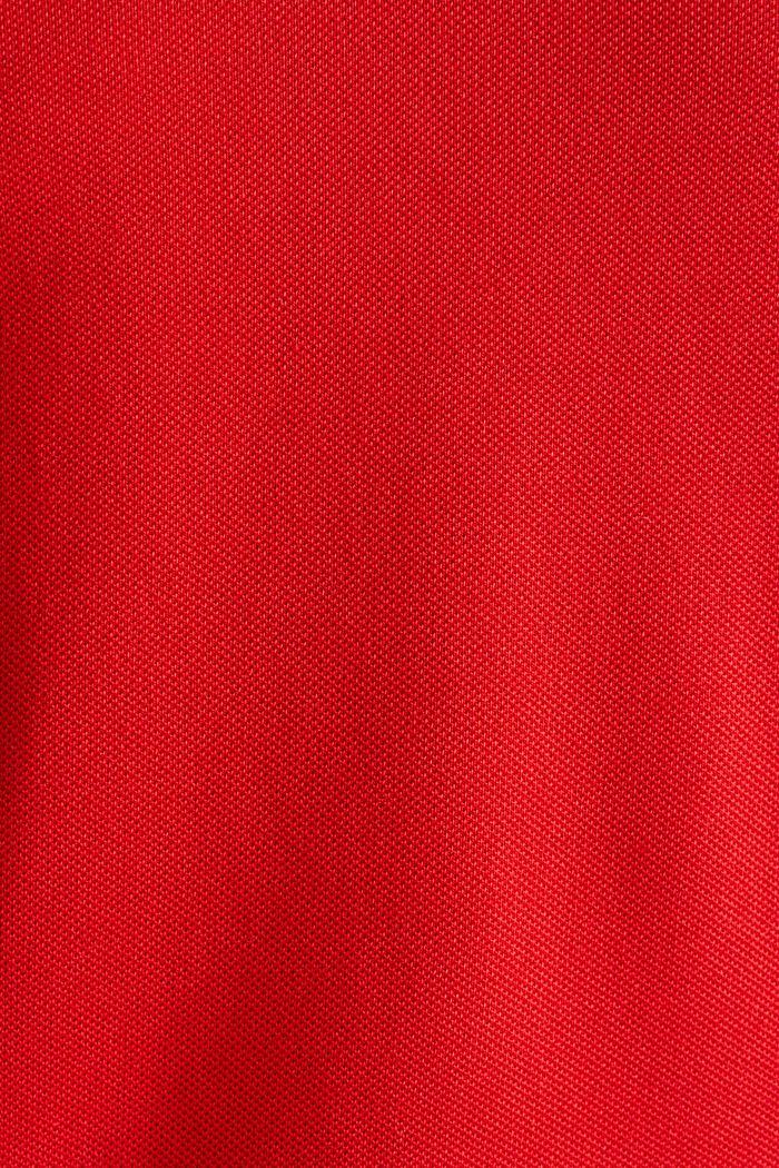 Piqué-Poloshirt aus 100% Baumwolle, RED, detail image number 4