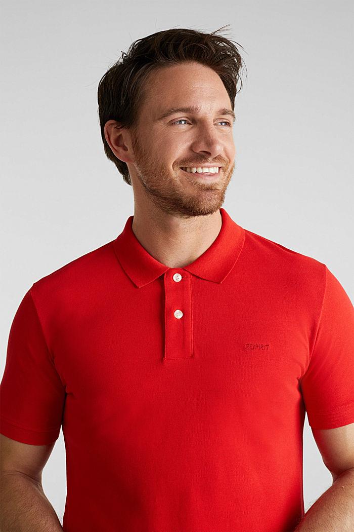Piqué-Poloshirt aus 100% Baumwolle, RED, detail image number 5
