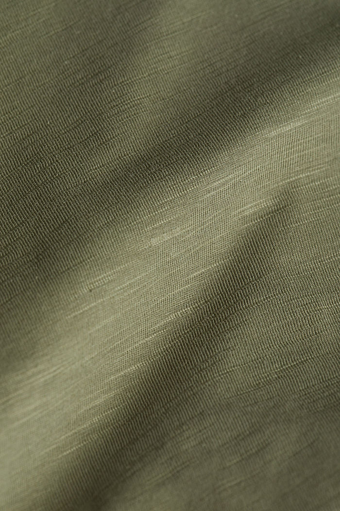 Jersey top made of 100% organic cotton, KHAKI GREEN, detail image number 4