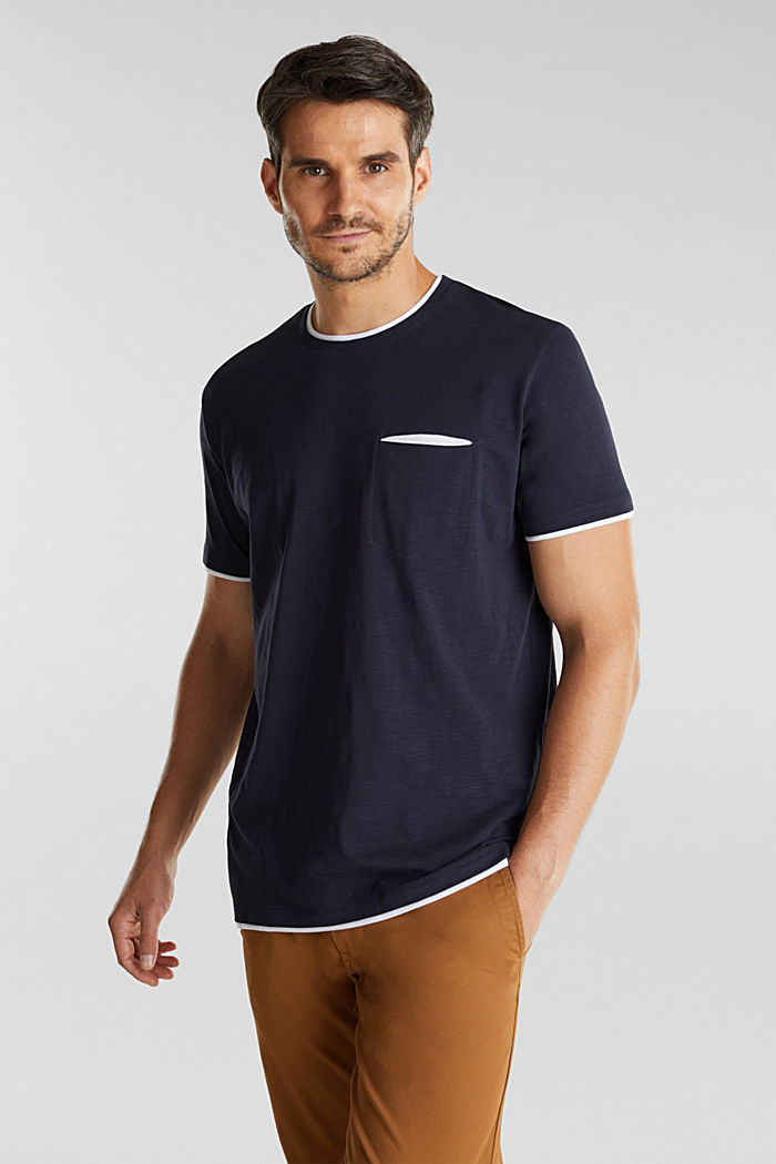 Jersey top made of 100% organic cotton, NAVY, detail image number 0