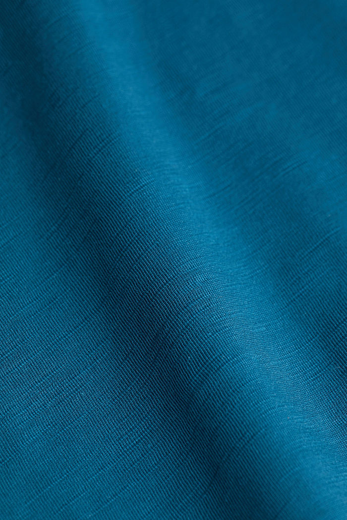 Jersey top made of 100% organic cotton, PETROL BLUE, detail image number 5