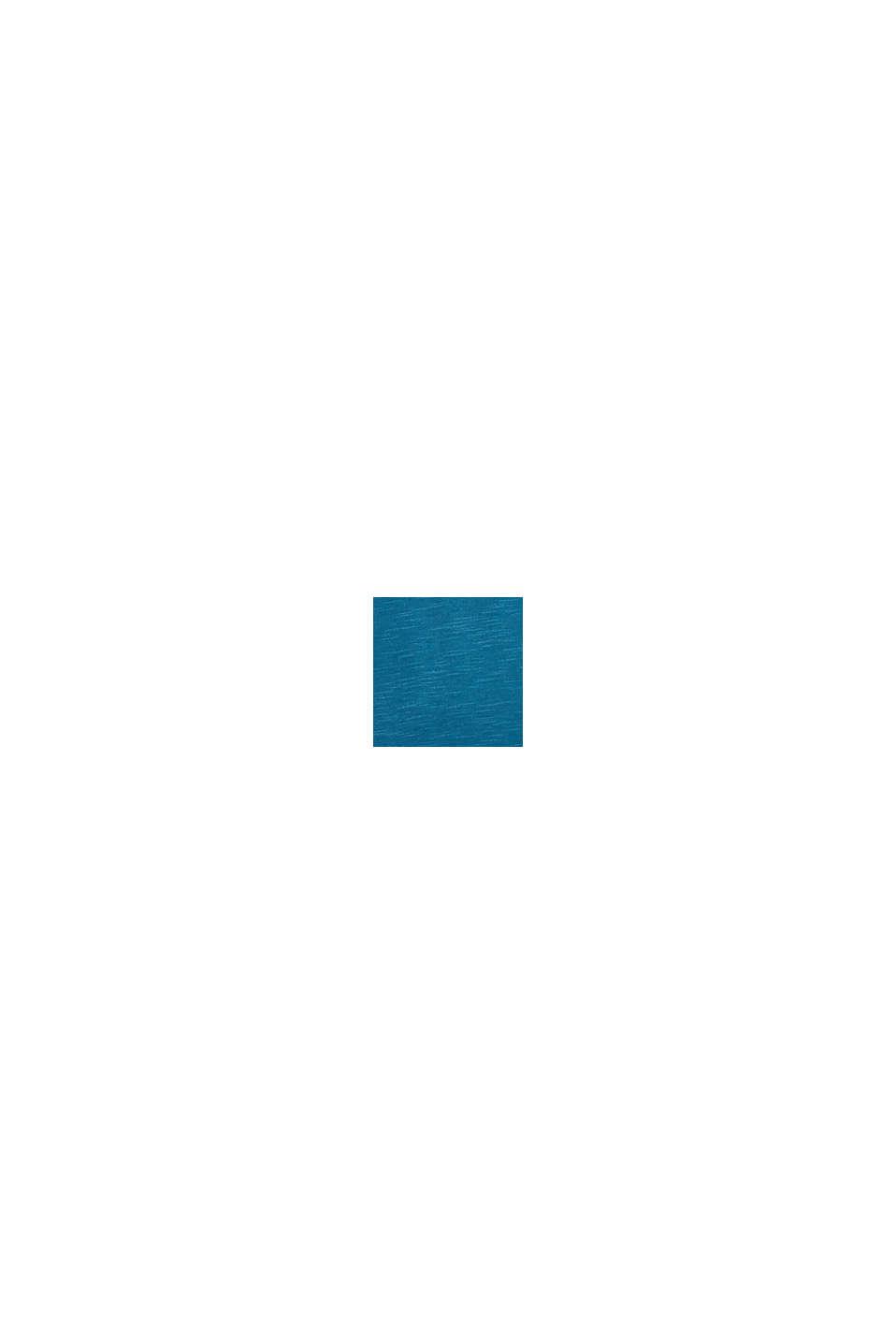 Jersey top made of 100% organic cotton, PETROL BLUE, swatch
