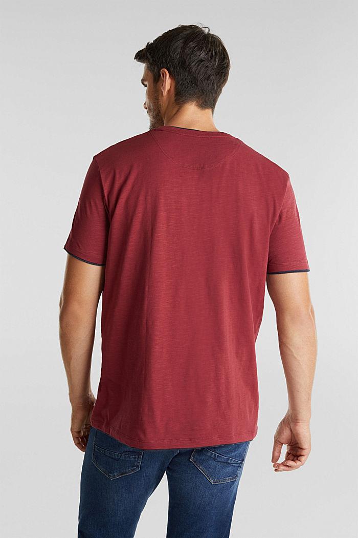 Jersey-Shirt aus 100% Organic Cotton, BORDEAUX RED, detail image number 3