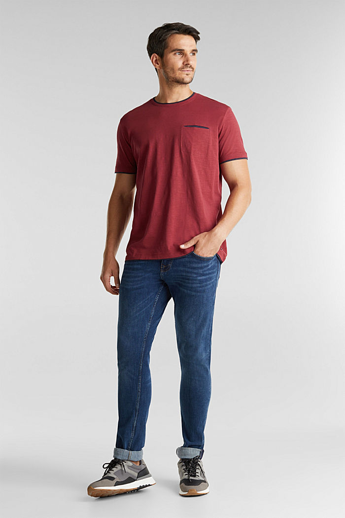 Jersey-Shirt aus 100% Organic Cotton, BORDEAUX RED, detail image number 2
