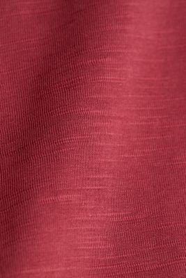 Jersey top made of 100% organic cotton, BORDEAUX RED, detail