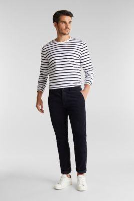 Striped jersey long sleeve top, organic cotton, WHITE 3, detail