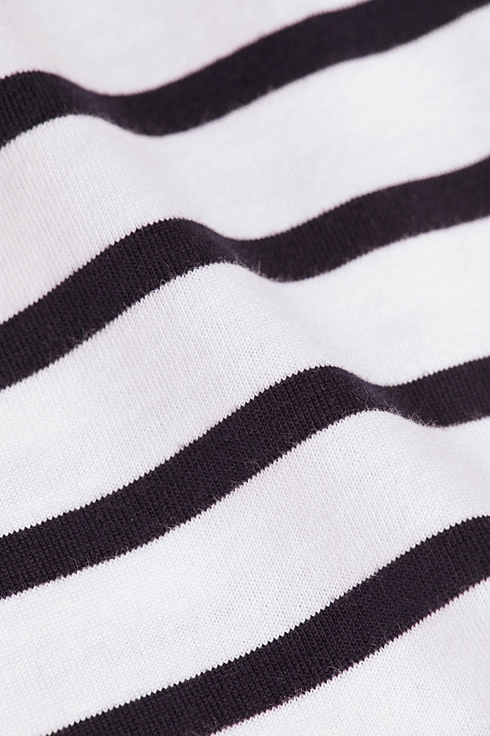 Maglia a manica lunga in jersey a righe, cotone biologico, WHITE, detail image number 4