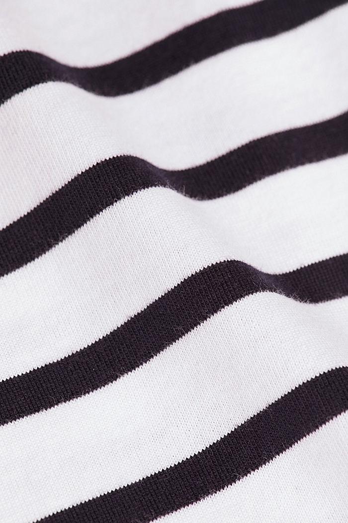 Gestreepte jersey longsleeve, biologisch katoen, WHITE, detail image number 4