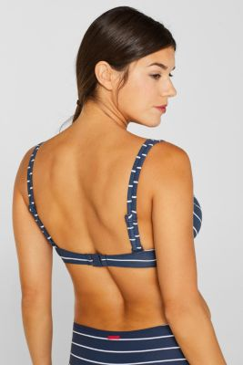 Unpadded underwire top for larger cups, DARK BLUE, detail
