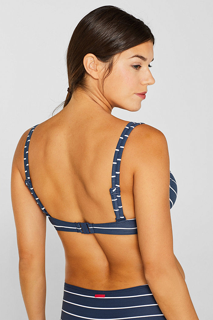 Unpadded underwire top for larger cups, DARK BLUE, detail image number 3