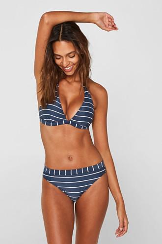 Midi briefs with stripes