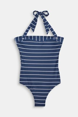 Padded swimsuit with stripes, DARK BLUE, detail