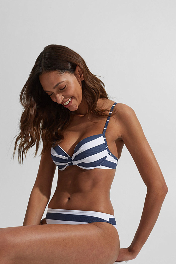 Padded underwire top with stripes