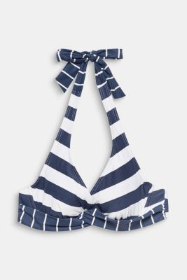 Halterneck top with stripes, DARK BLUE, detail
