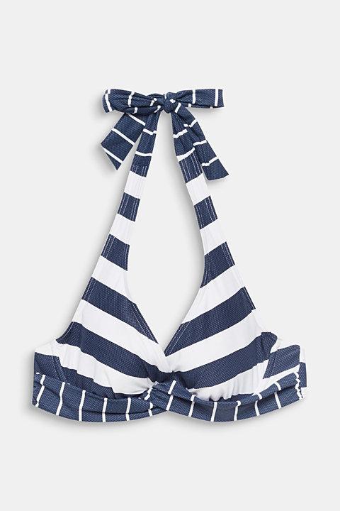 Halterneck top with stripes