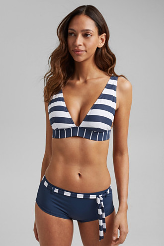Non-wired top with stripes