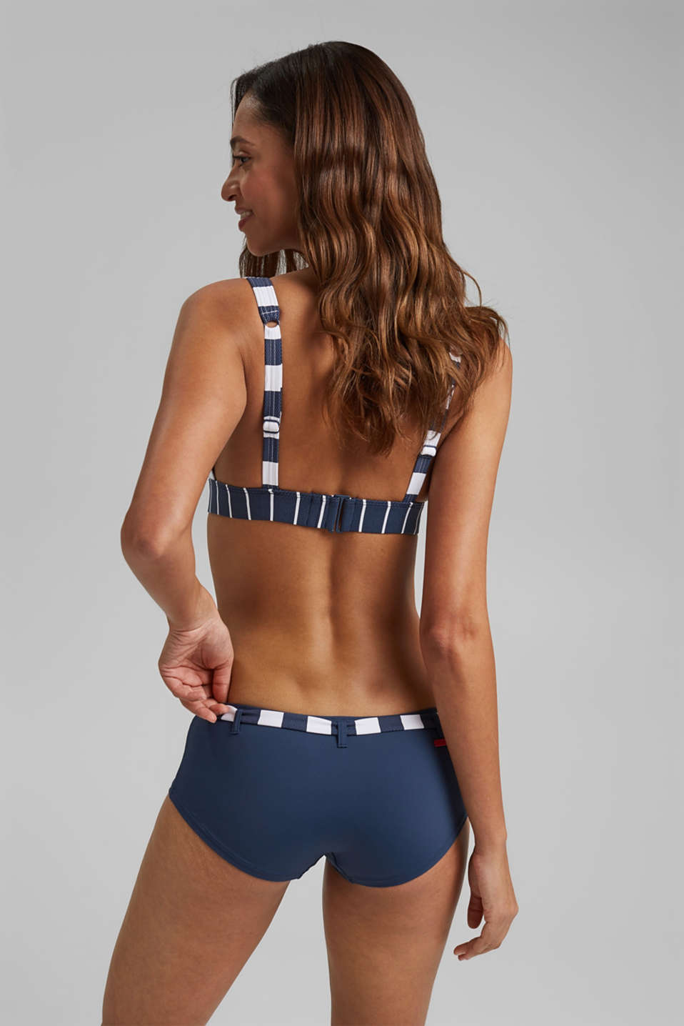 Hipster shorts with stripes, DARK BLUE, detail image number 2