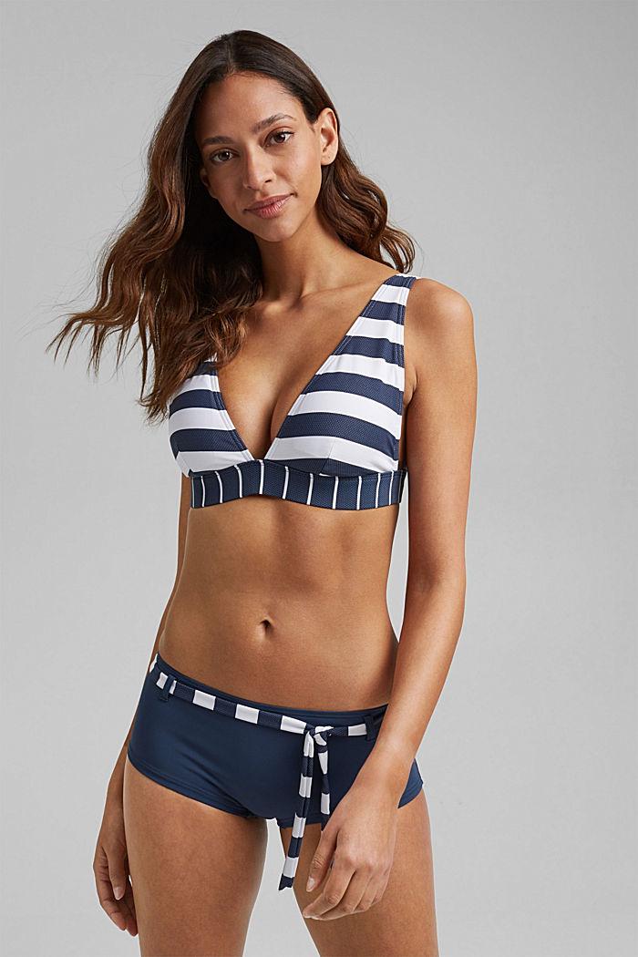 Hipster shorts with stripes, DARK BLUE, detail image number 4