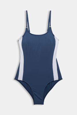 Swimsuit with concealed underwiring, DARK BLUE, detail