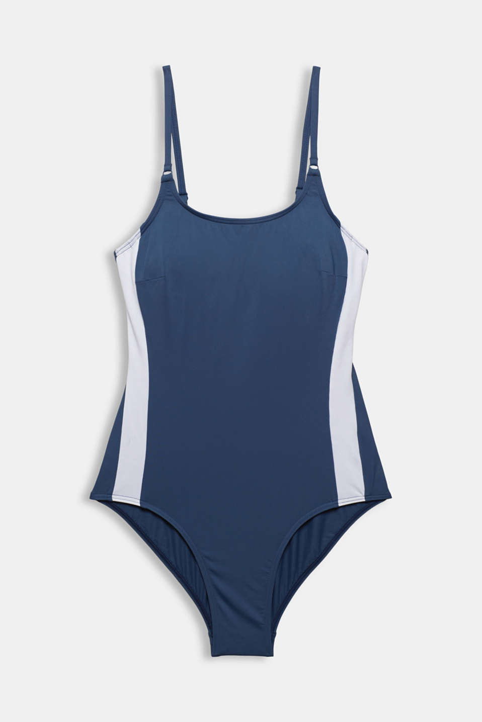 Swimsuit with concealed underwiring, DARK BLUE, detail image number 3