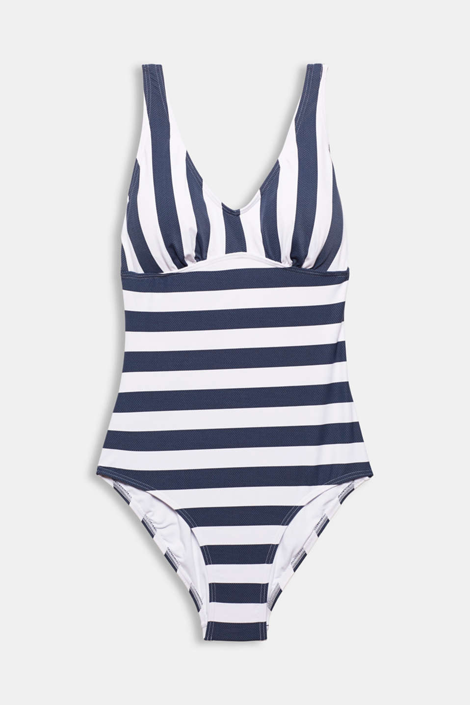 Padded swimsuit with stripes, DARK BLUE, detail image number 4