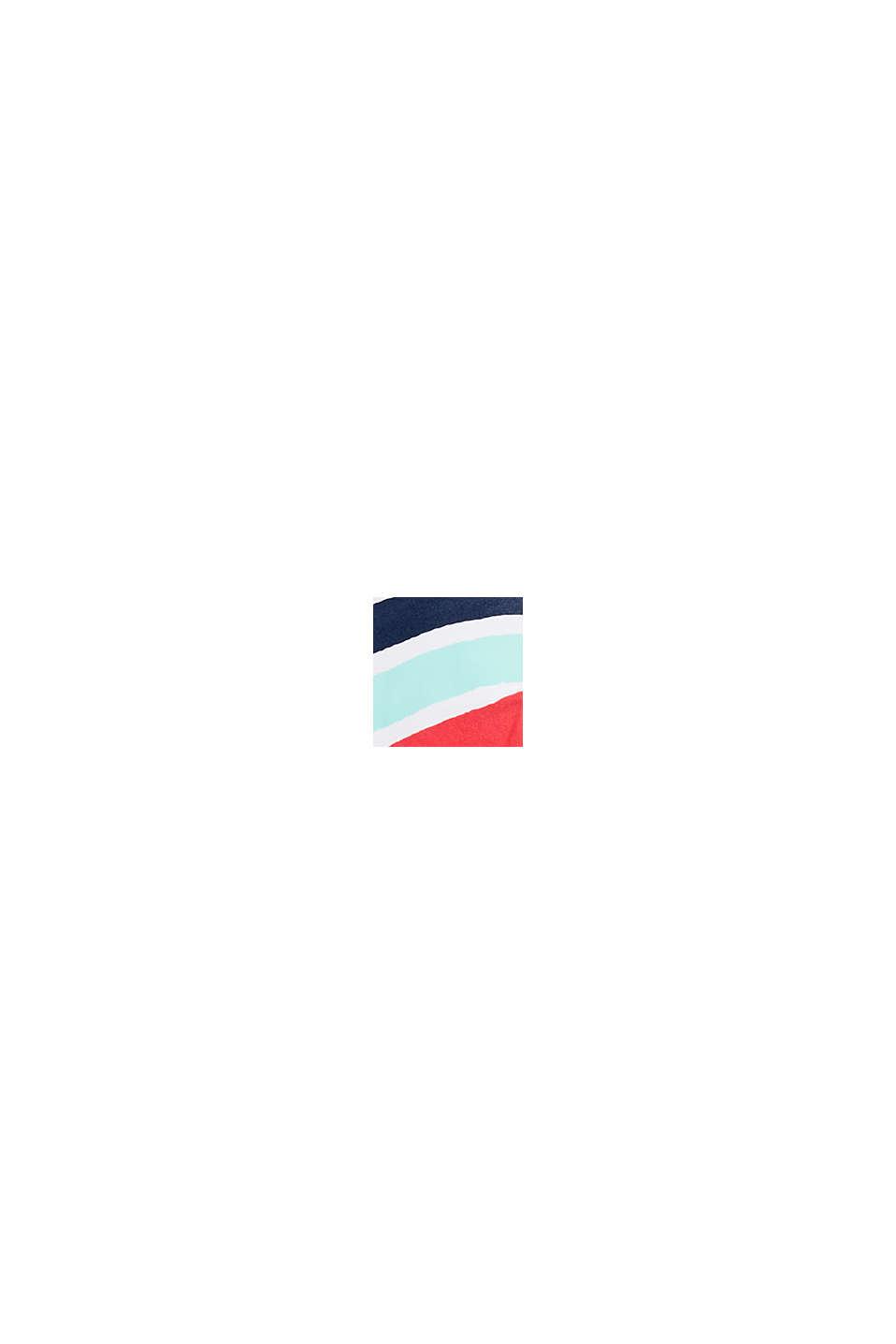 Wattiertes Top mit Multicolor-Streifen, SUNFLOWER YELLOW, swatch