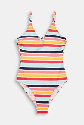 Padded swimsuit with stripes, SUNFLOWER YELLOW, detail