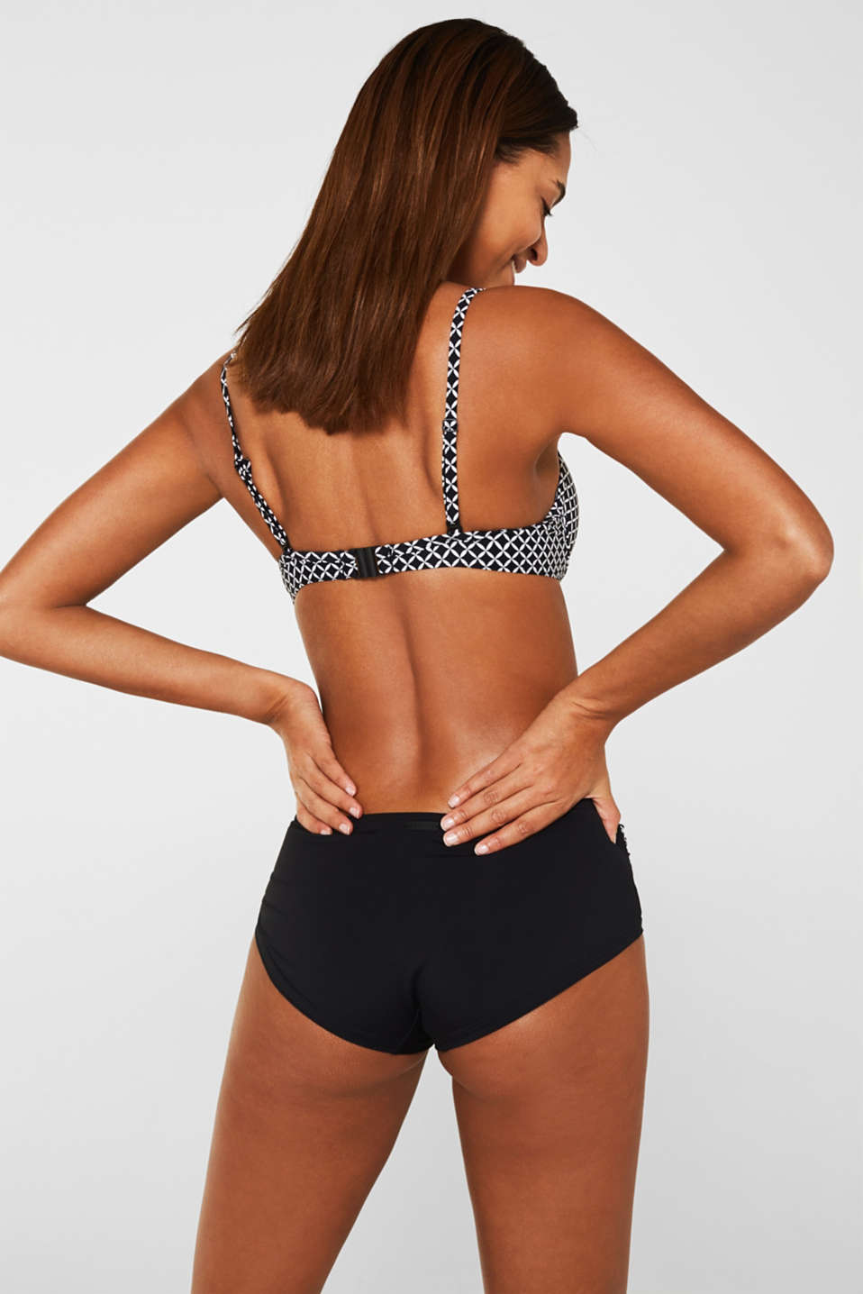 Push-up top with a print, BLACK, detail image number 1