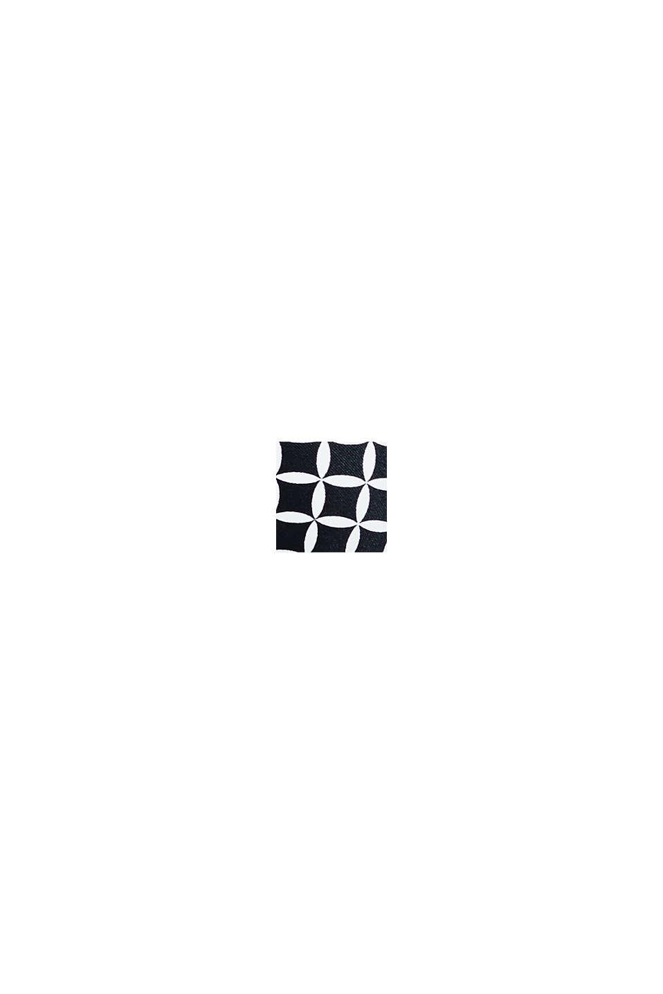 Top con efecto push up y estampado, BLACK, swatch