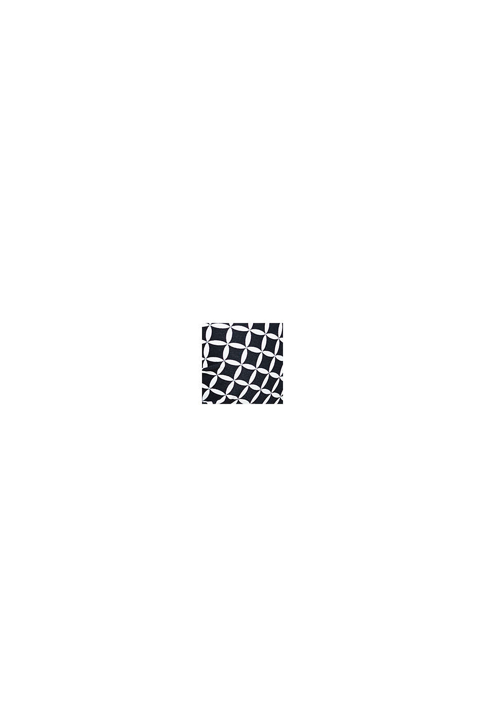 Vatteret bøjletop med print, BLACK, swatch