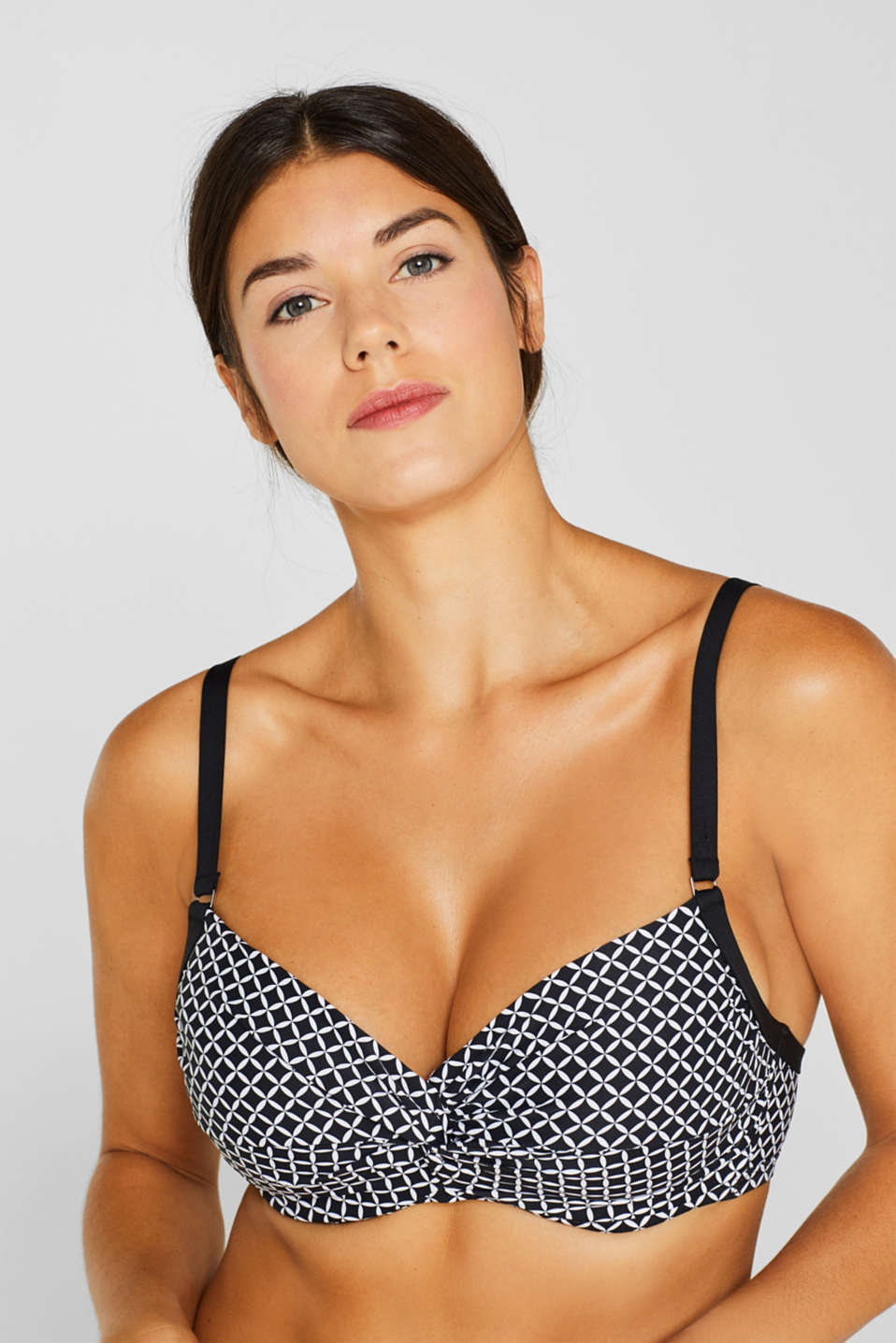 Unpadded underwire top for larger cups, BLACK, detail image number 2