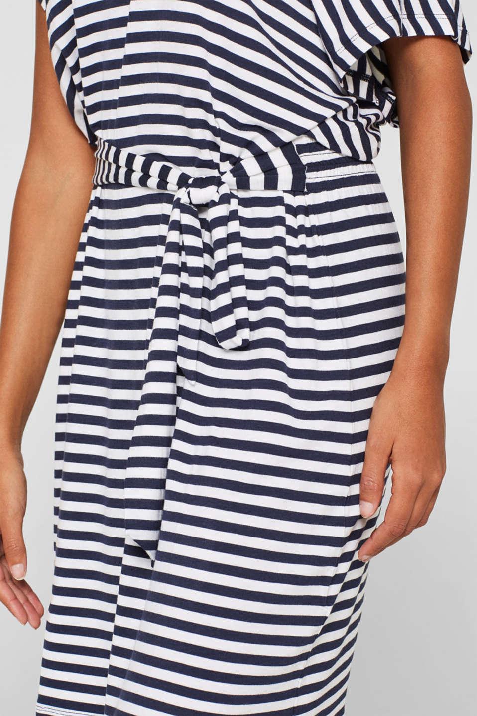 Beach dress with a tie-around belt, WHITE, detail image number 3