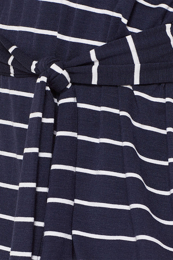 Casual dress with a tie-around belt, NAVY, detail image number 3