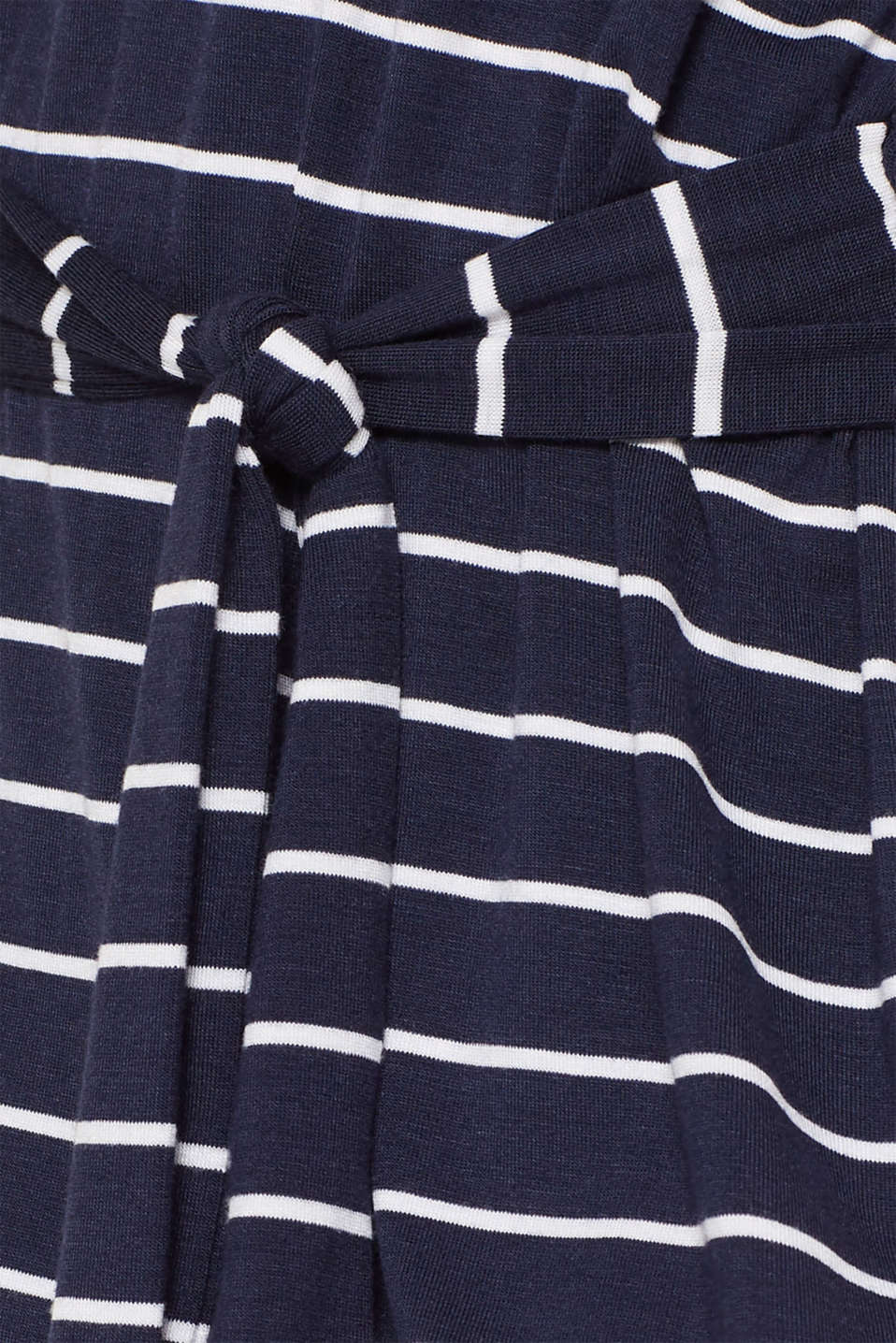 Casual dress with a tie-around belt, NAVY 2, detail image number 3