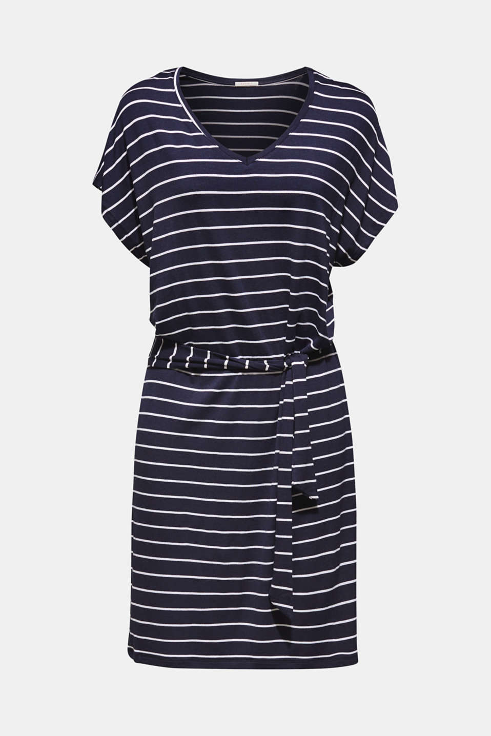 Casual dress with a tie-around belt, NAVY 2, detail image number 2