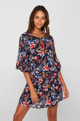 Casual dress with a floral print, INK, detail