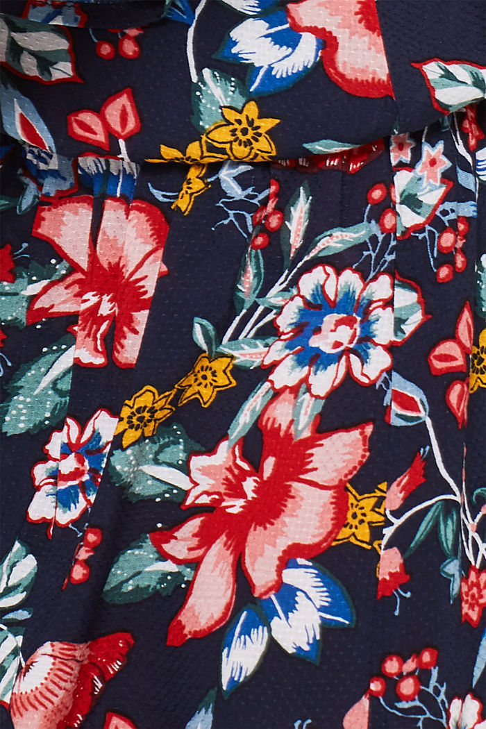 Casual dress with a floral print, INK, detail image number 4