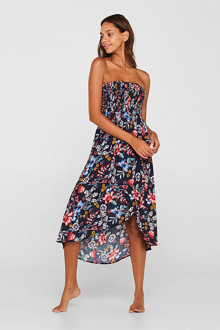 Freizeit-Kleid mit Blüten-Print, INK, detail image number 0