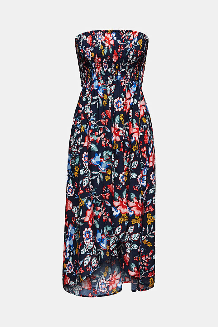 Casual dress with a floral print, INK, detail image number 0