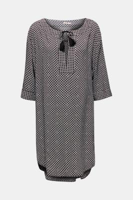 Tunic dress with tassels, BLACK, detail
